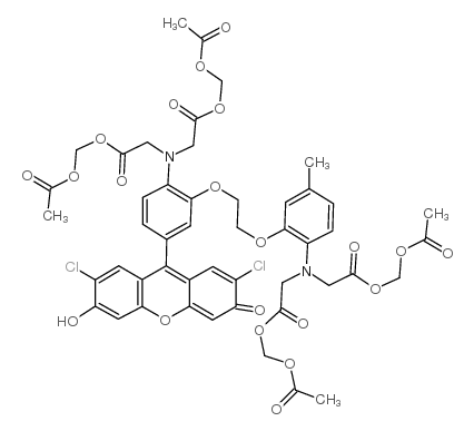 acetyloxymethyl 2-[N-[2-(acetyloxymethoxy)-2-oxoethyl]-2-[2-[2-[bis[2-(acetyloxymethoxy)-2-oxoethyl]amino]-5-(2,7-dichloro-3-hydroxy-6-oxoxanthen-9-yl)phenoxy]ethoxy]-4-methylanilino]acetate